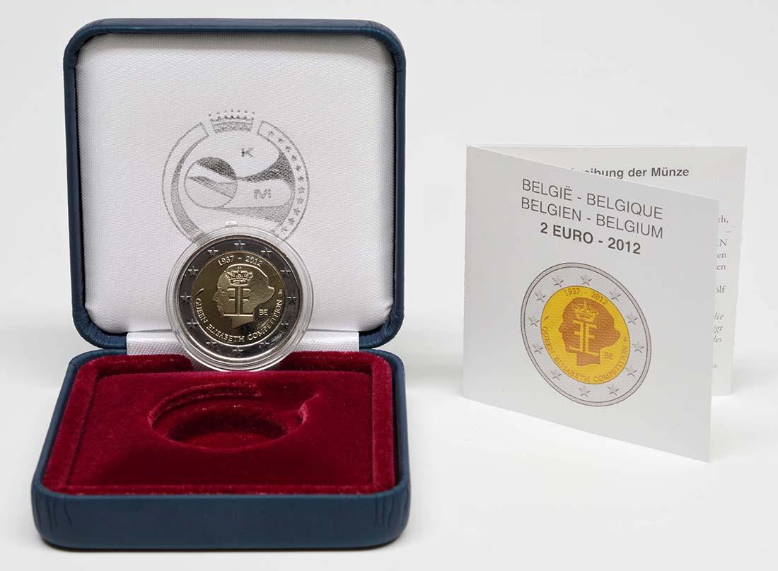 Lieferumfang :Belgien : 2 Euro 75 J. Königin-Elisabeth Internationaler Musik Wettbewerb  2012 PP