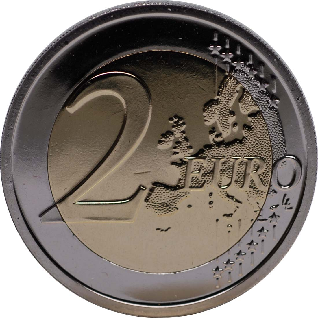Vorderseite :Belgien : 2 Euro 10 Jahre Euro Bargeld  2012 PP