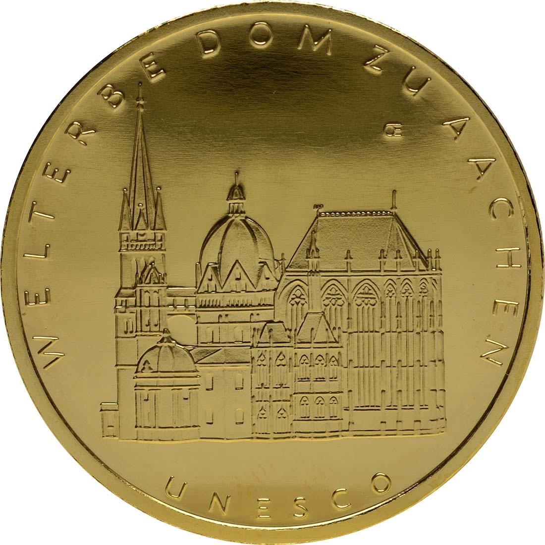 Vorderseite :Deutschland : 100 Euro Aachener Dom Komplettset A,D,F,G,J 5 Münzen  2012 Stgl.