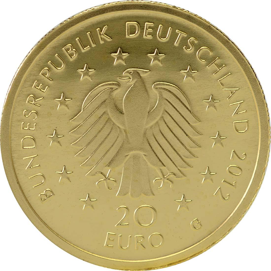 Rückseite :Deutschland : 20 Euro Fichte  2012 Stgl.