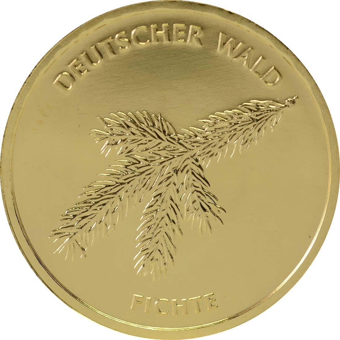 Vorderseite :Deutschland : 20 Euro Fichte Buchstabe unserer Wahl  2012 Stgl.