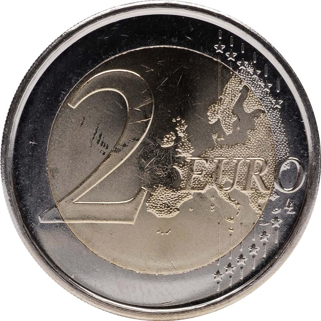Vorderseite:Spanien : 2 Euro 10 Jahre Euro Bargeld  2012 bfr