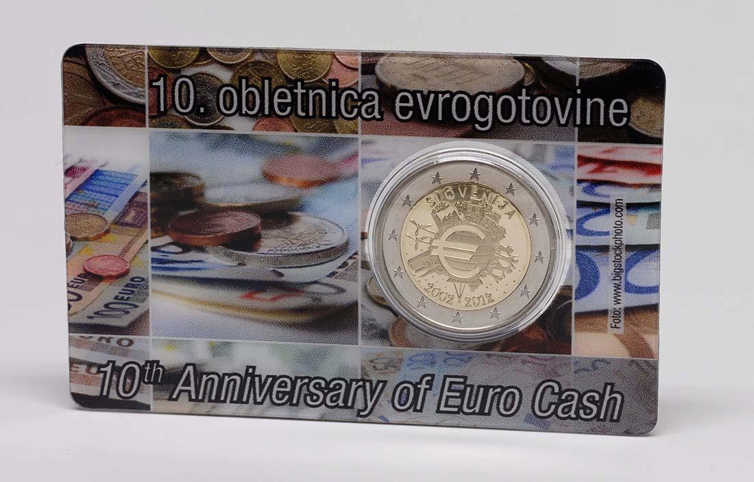 Lieferumfang :Slowenien : 2 Euro 10 Jahre Euro Bargeld  2012 PP