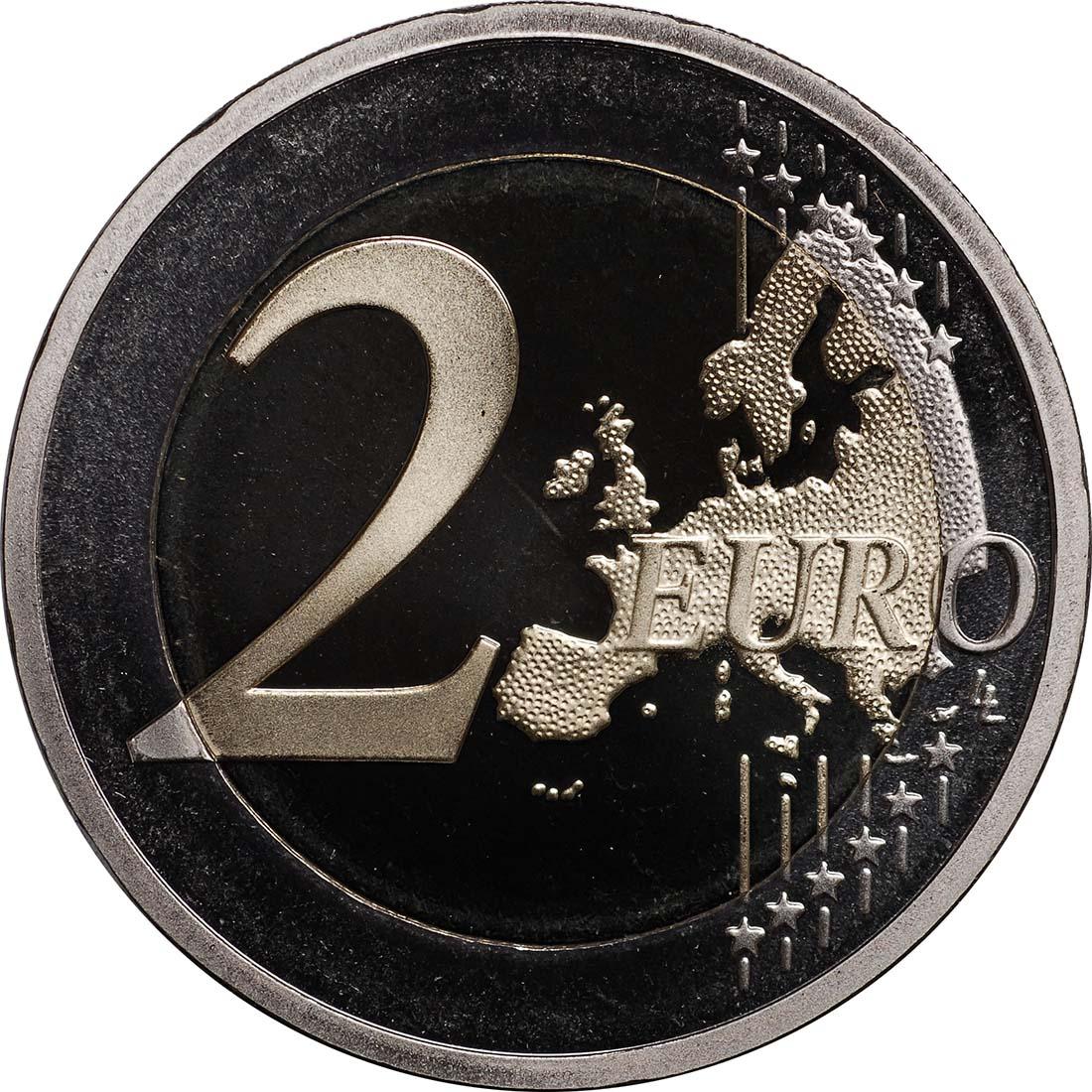 Vorderseite :Slowenien : 2 Euro 10 Jahre Euro Bargeld  2012 PP