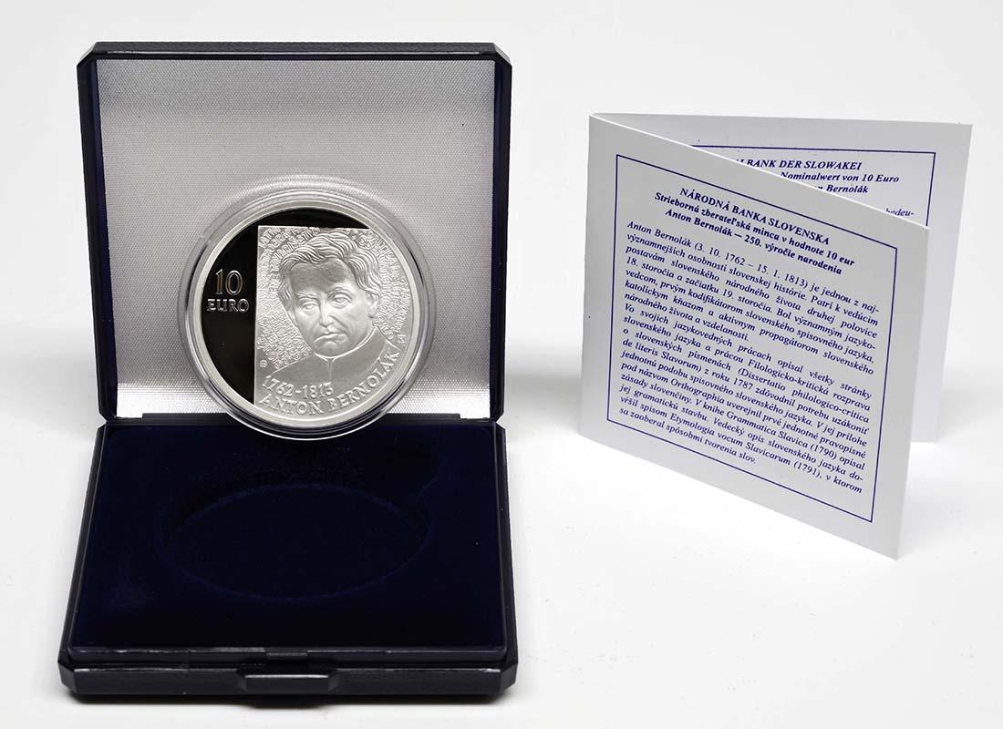 Lieferumfang:Slowakei : 10 Euro Anton Bernolak - 250. Geburtstag  2012 PP