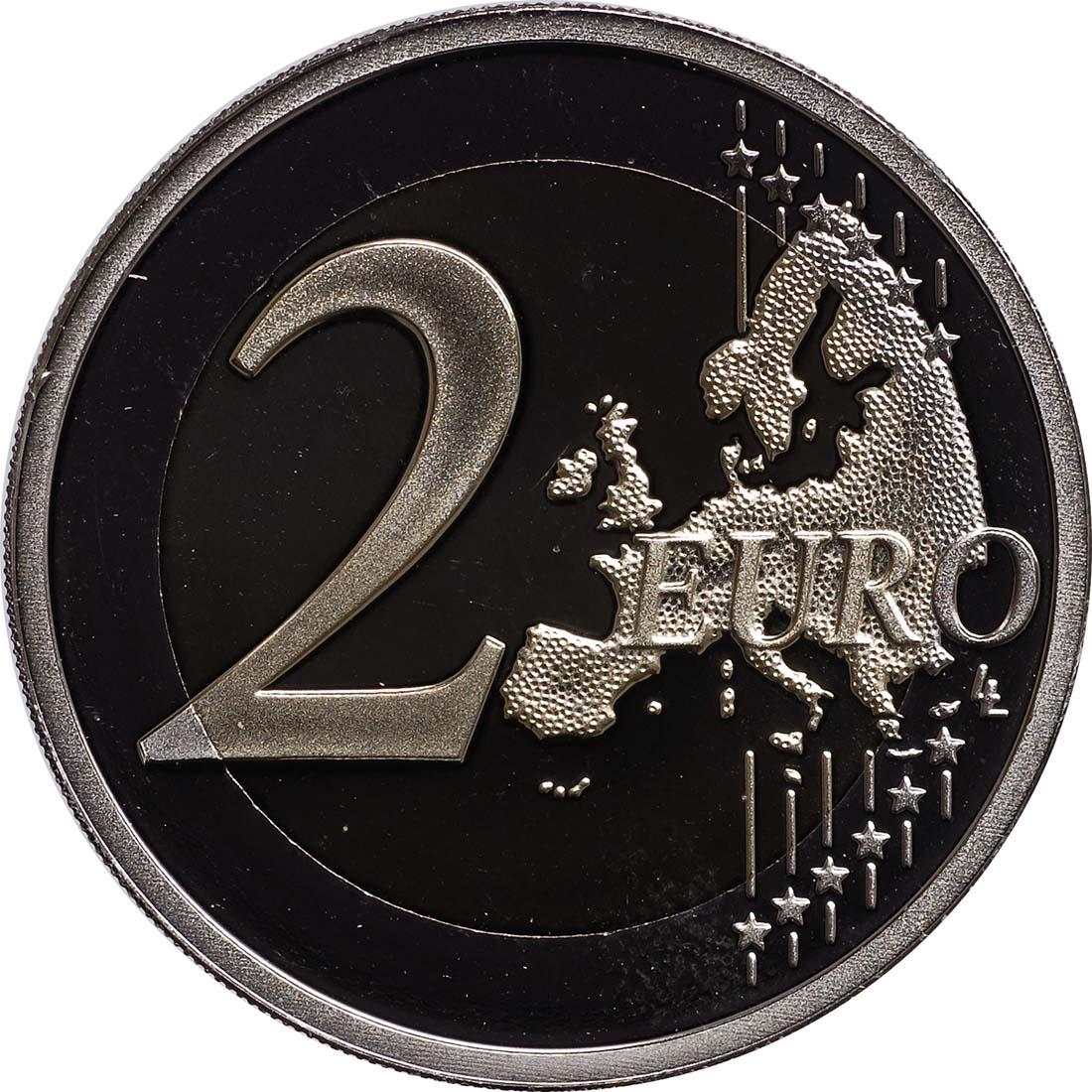 Vorderseite:Niederlande : 2 Euro 10 Jahre Euro Bargeld  2012 PP