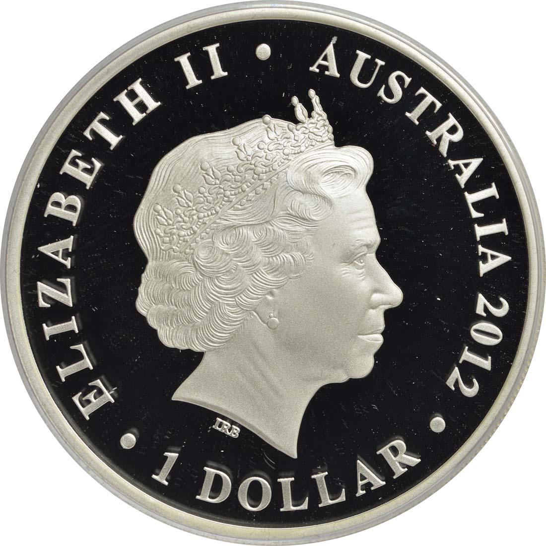 australien 1 dollar 60 kr nungsjubil um queen elisabeth farbig 2012 silber pp euro. Black Bedroom Furniture Sets. Home Design Ideas