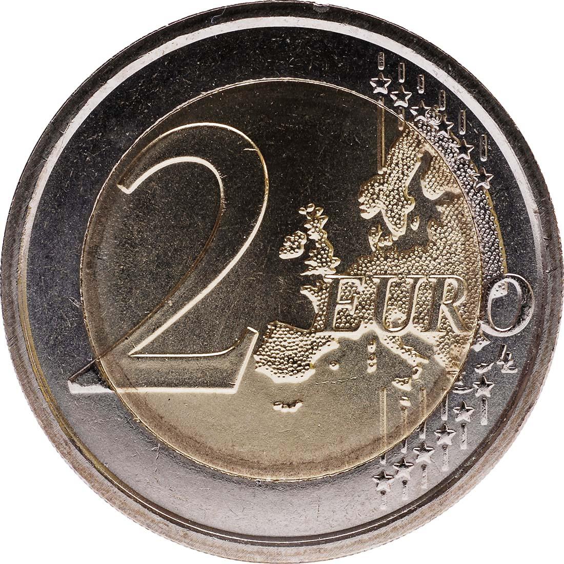 Vorderseite:Italien : 2 Euro 10 Jahre Euro Bargeld  2012 bfr