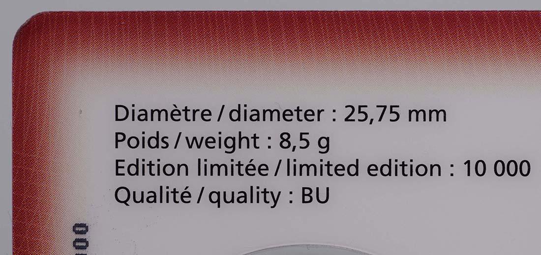 Zertifikat:Luxemburg : 2 Euro 10 Jahre Euro Bargeld  2012 Stgl.