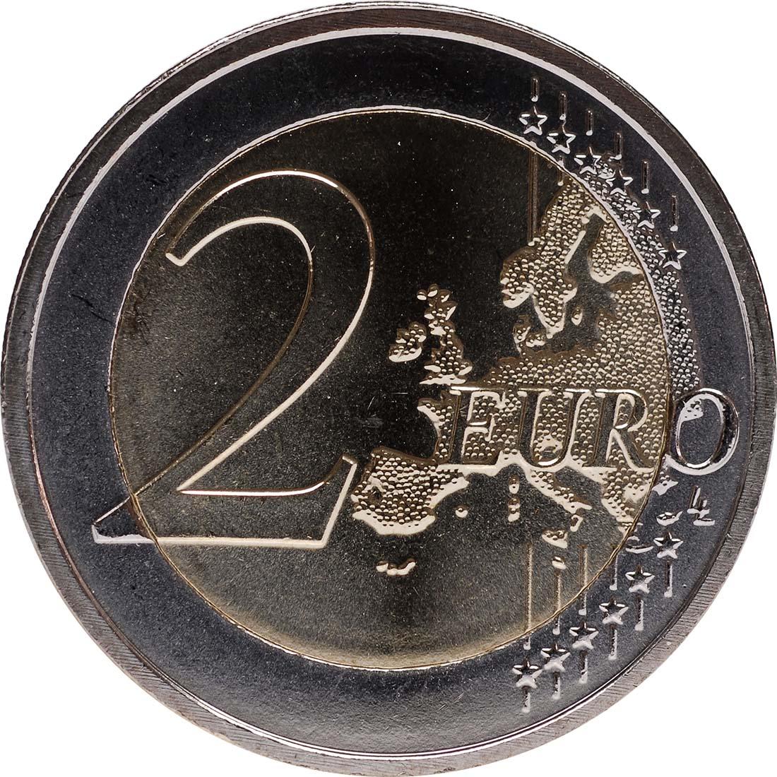 Vorderseite:Malta : 2 Euro 10 Jahre Euro Bargeld  2012 bfr