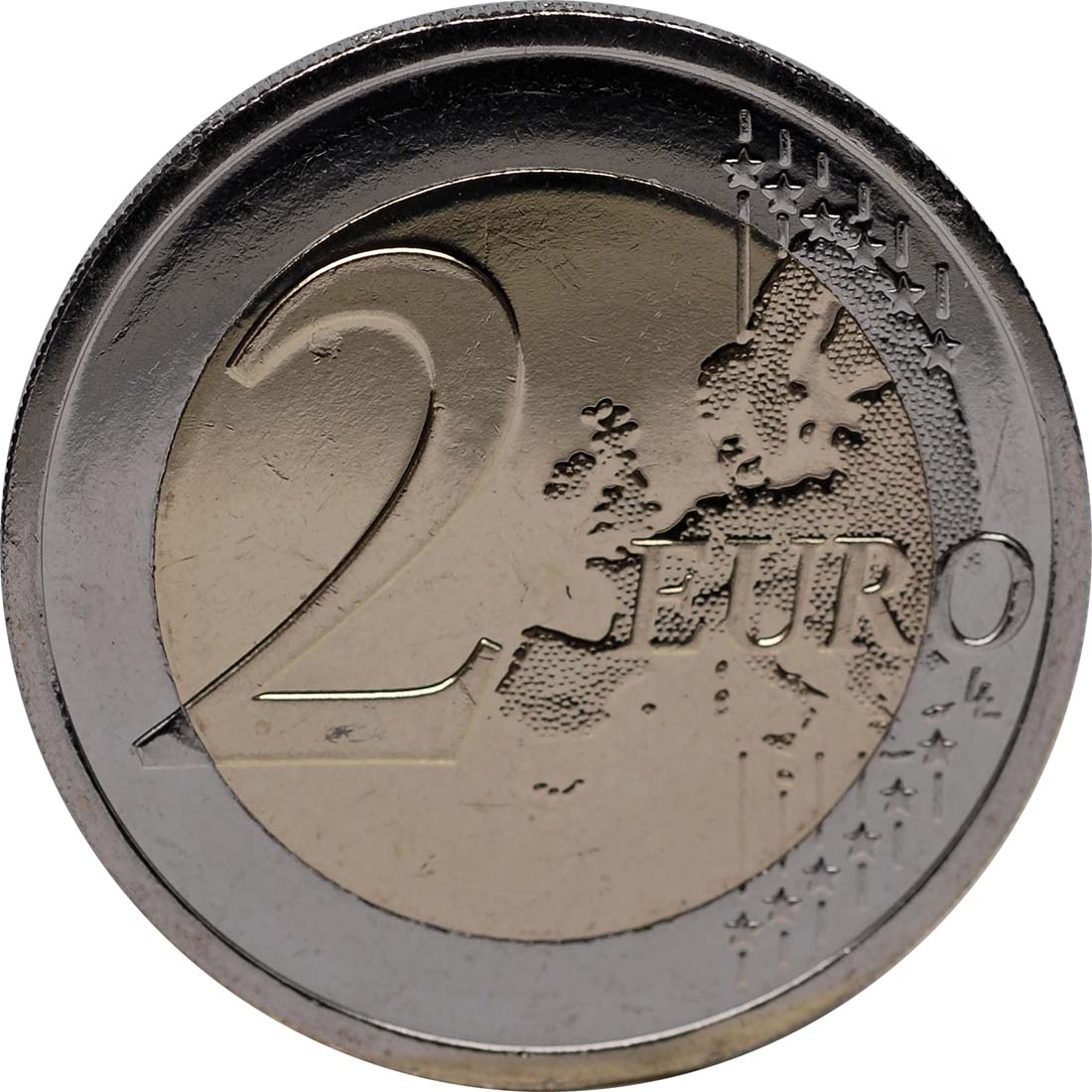 Vorderseite:Irland : 2 Euro 10 Jahre Euro Bargeld  2012 bfr
