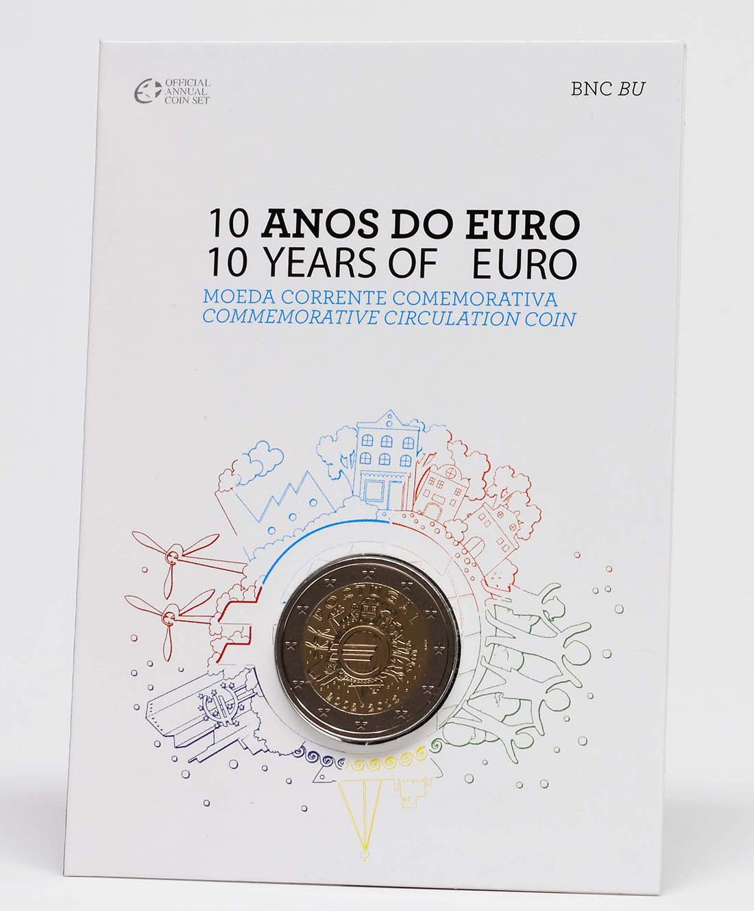 Lieferumfang :Portugal : 2 Euro 10 Jahre Euro Bargeld  2012 Stgl.