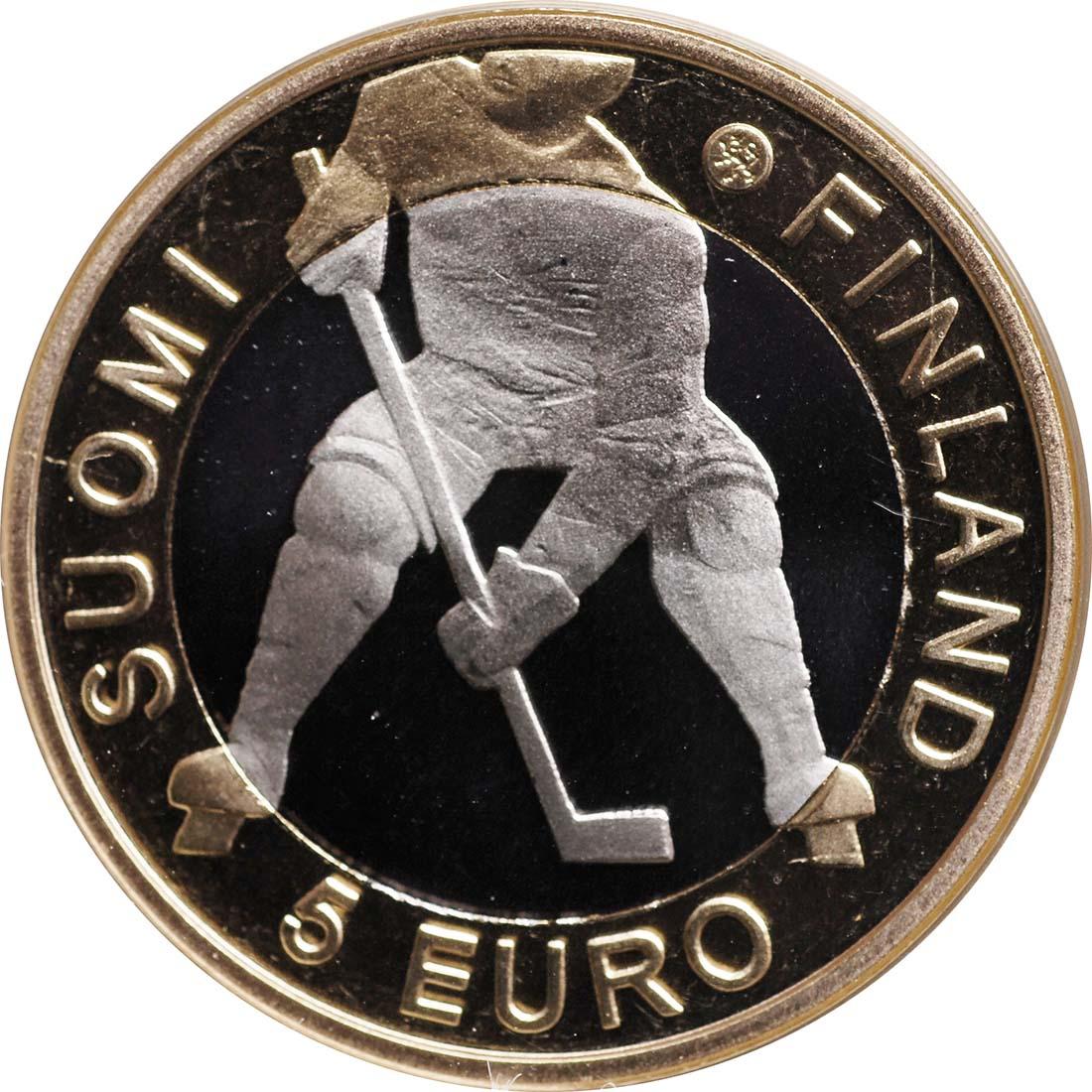 Vorderseite:Finnland : 5 Euro Eishockey WM IIHF  2012 PP