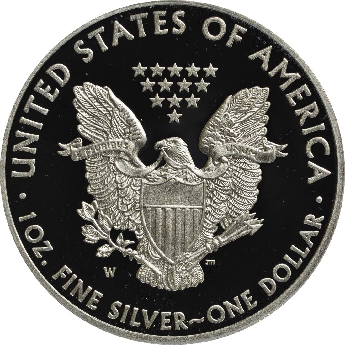 Rückseite :USA : 1 Dollar Silber Eagle 1oz  2012 PP