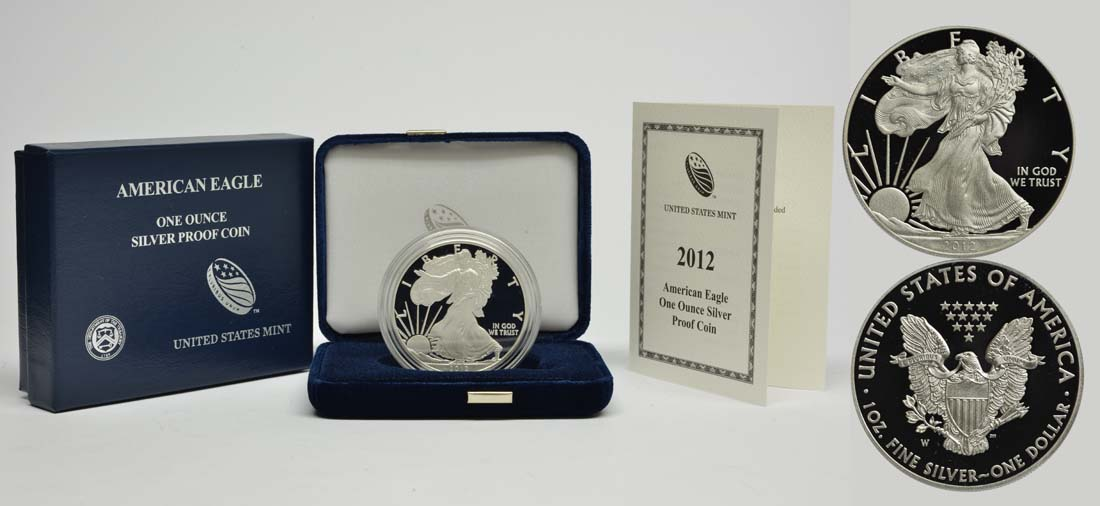 USA : 1 Dollar Silber Eagle 1oz  2012 PP