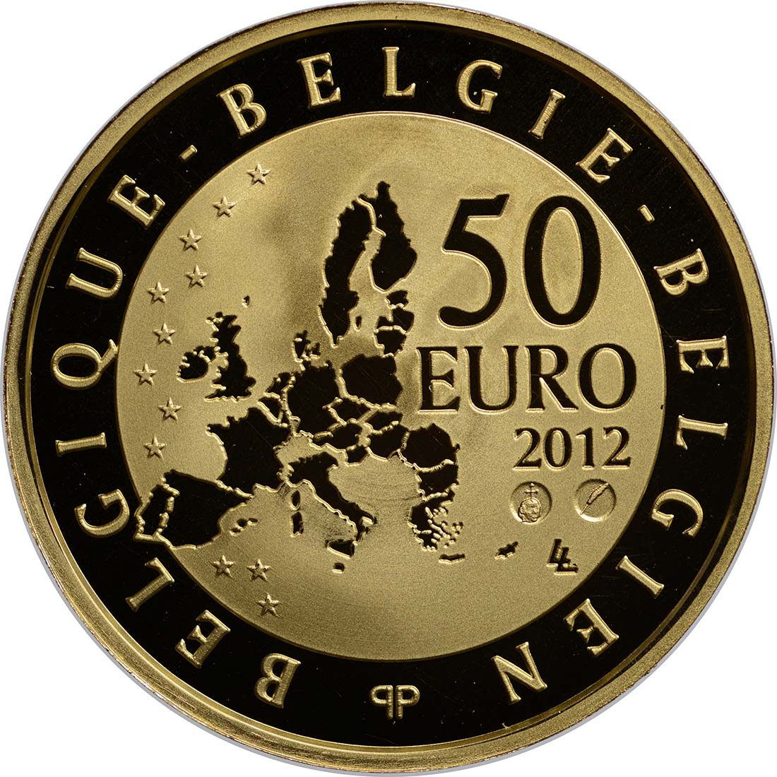 Rückseite:Belgien : 50 Euro Paul Delvaux  2012 PP