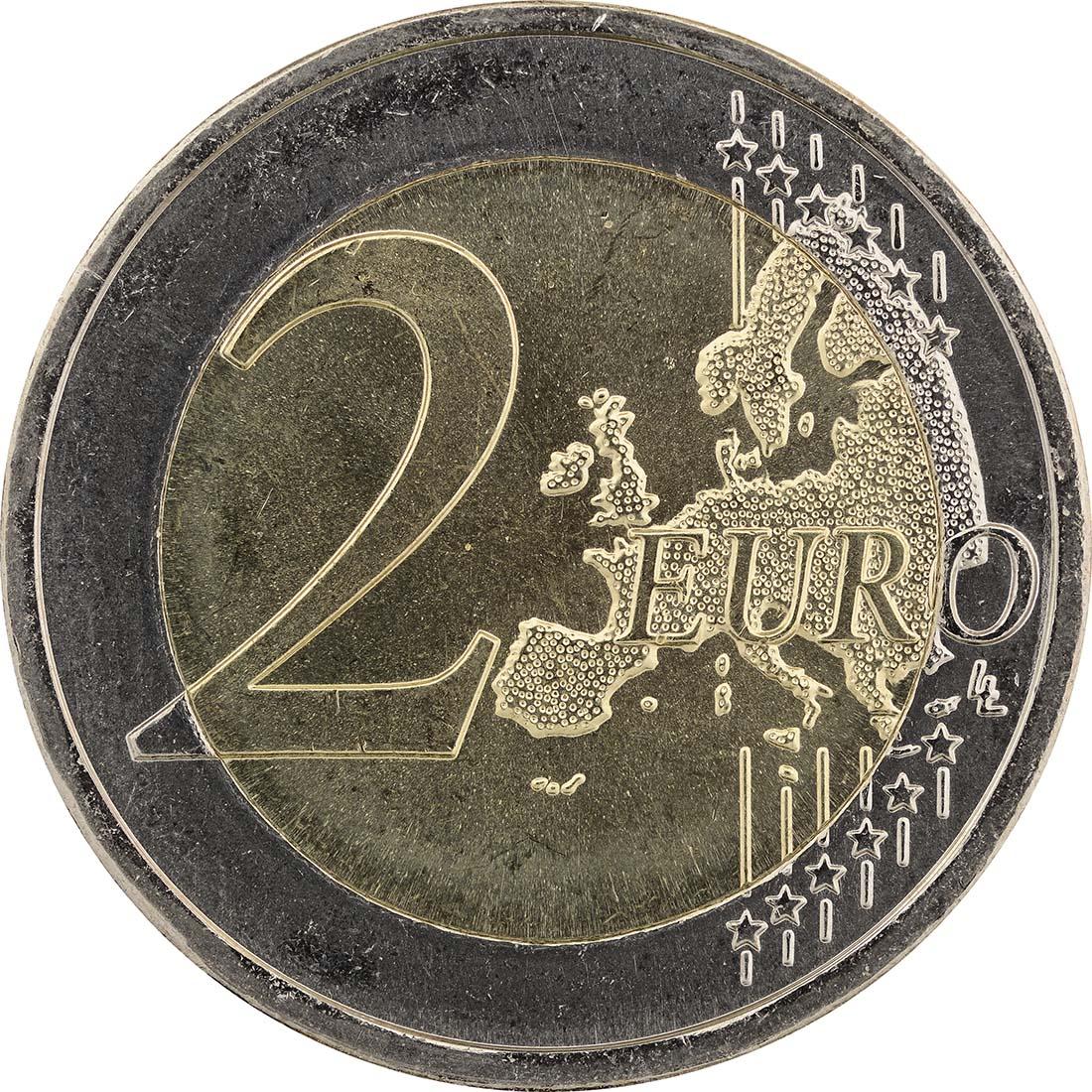 Vorderseite:Portugal : 2 Euro Europäische Kulturhauptstadt Guimaraes  2012 bfr