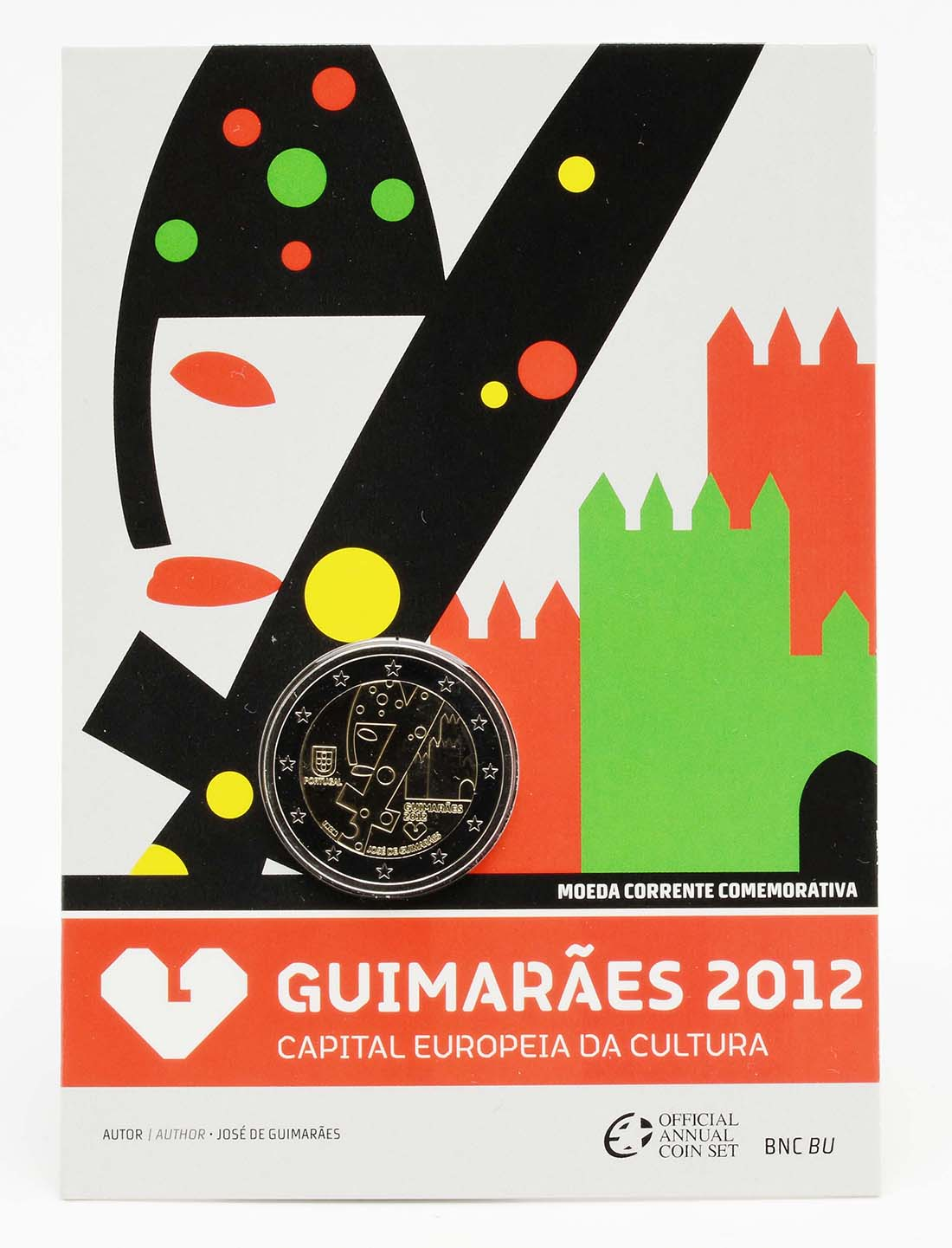 Lieferumfang:Portugal : 2 Euro Europäische Kulturhauptstadt Guimaraes  2012 Stgl.
