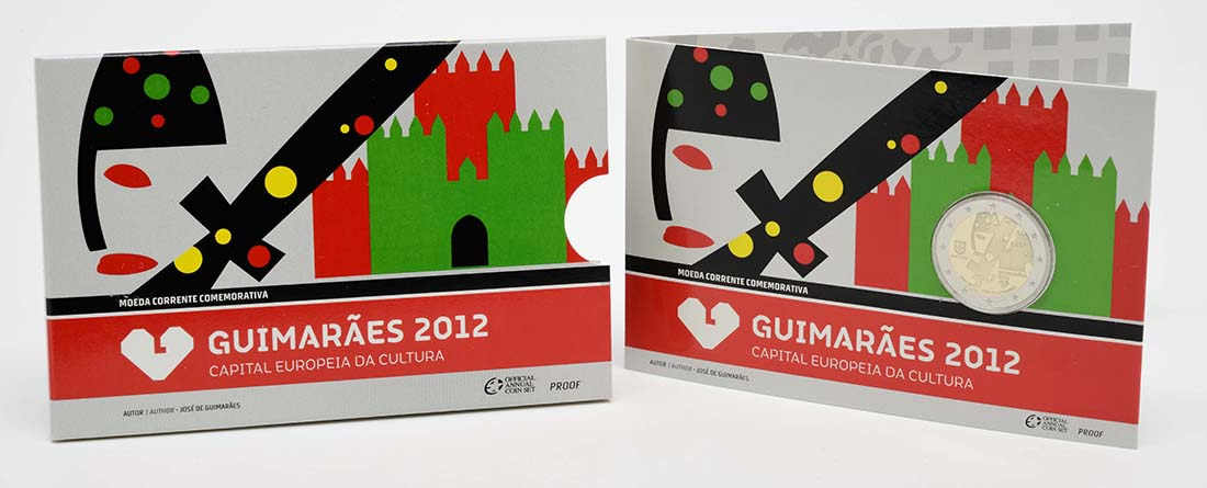 Bild des Lieferumfangs :Portugal - 2 Euro Europäische Kulturhauptstadt Guimaraes  2012 PP