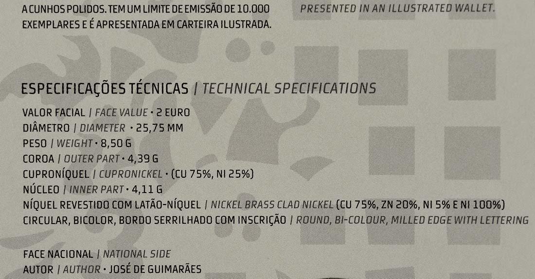Zertifikat :Portugal : 2 Euro Europäische Kulturhauptstadt Guimaraes  2012 PP