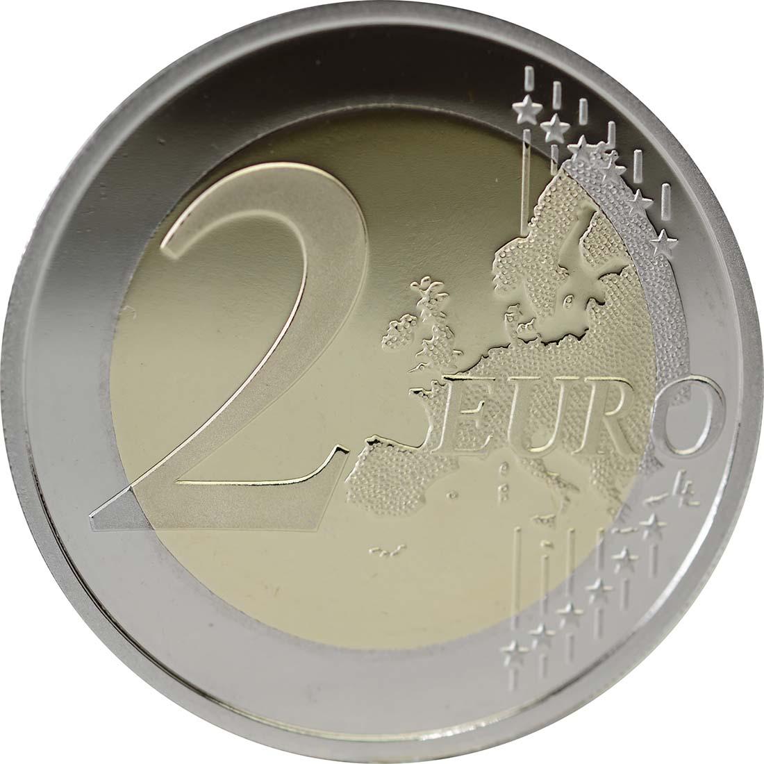Vorderseite :Monaco : 2 Euro 500 Jahre Souveränität Monacos  2012 PP