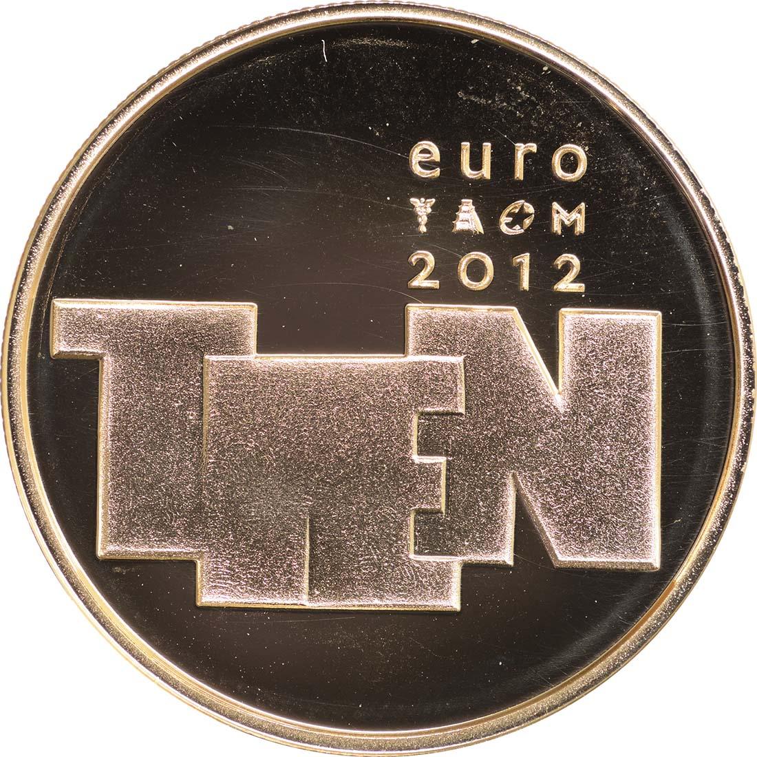 Rückseite:Niederlande : 10 Euro Bildhauerkunst  2012 PP