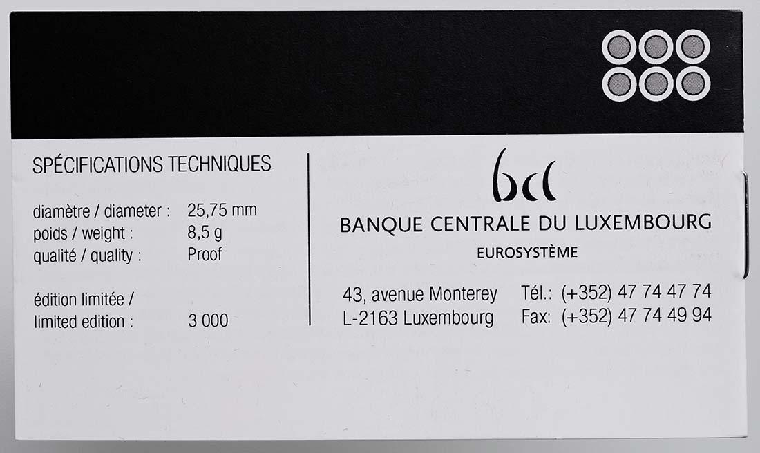Zertifikat:Luxemburg : 2 Euro Sondersatz 6 x 2 Euro  2012 PP