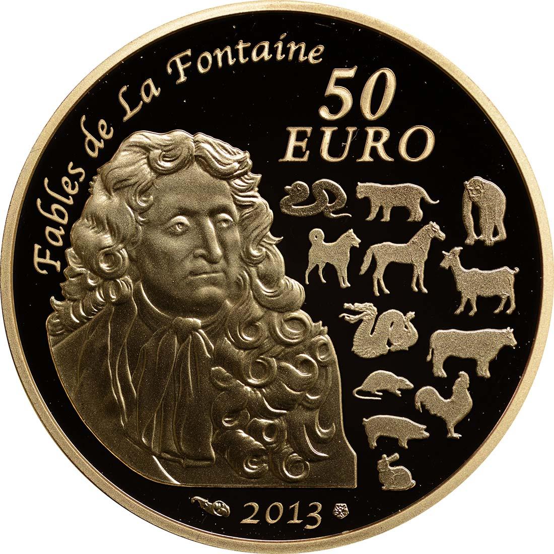 Rückseite:Frankreich : 50 Euro Jahr der Schlange  2013 PP