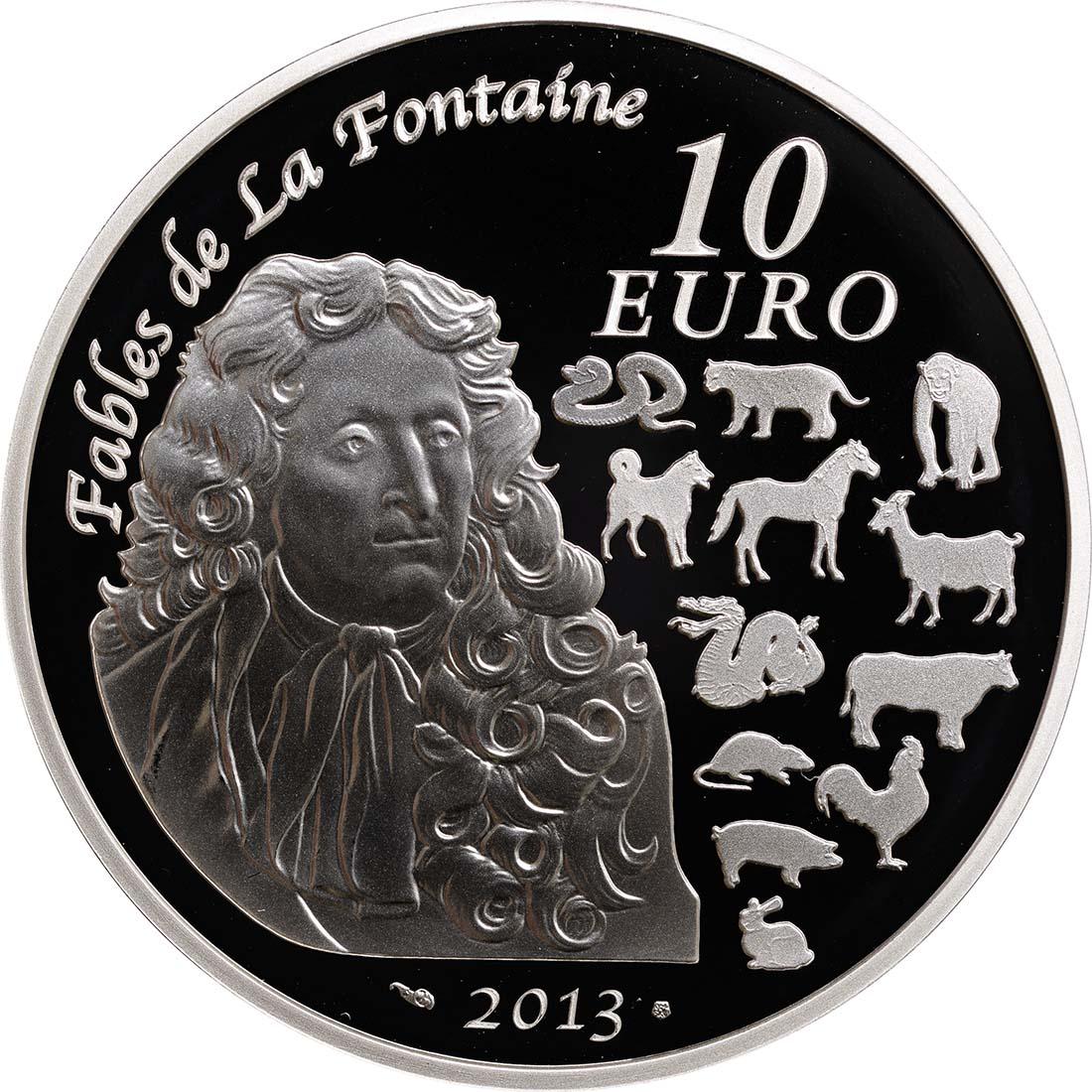 Rückseite:Frankreich : 10 Euro Jahr der Schlange  2013 PP