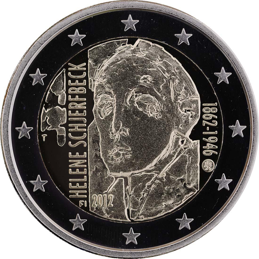 Bild der Rückseite :Finnland - 2 Euro Helene Schjerfbeck  2012 PP
