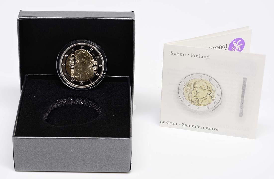 Bild des Lieferumfangs :Finnland - 2 Euro Helene Schjerfbeck  2012 PP