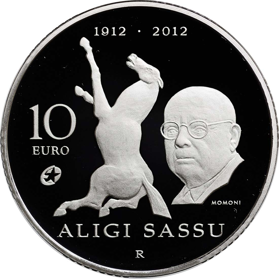 Vorderseite:San Marino : 10 Euro Aligi Sassu  2012 PP