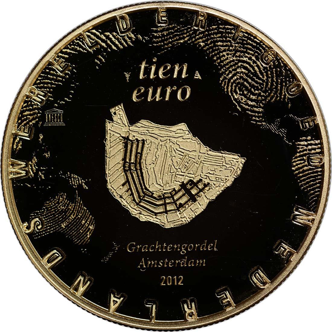 Rückseite:Niederlande : 10 Euro Amsterdamer Grachtengürtel  2012 PP