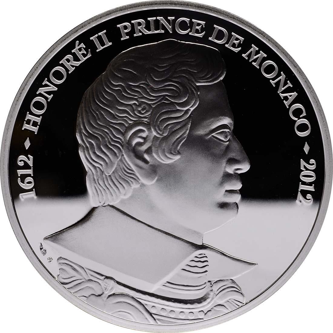 Vorderseite:Monaco : 10 Euro Honoré II.  2012 PP