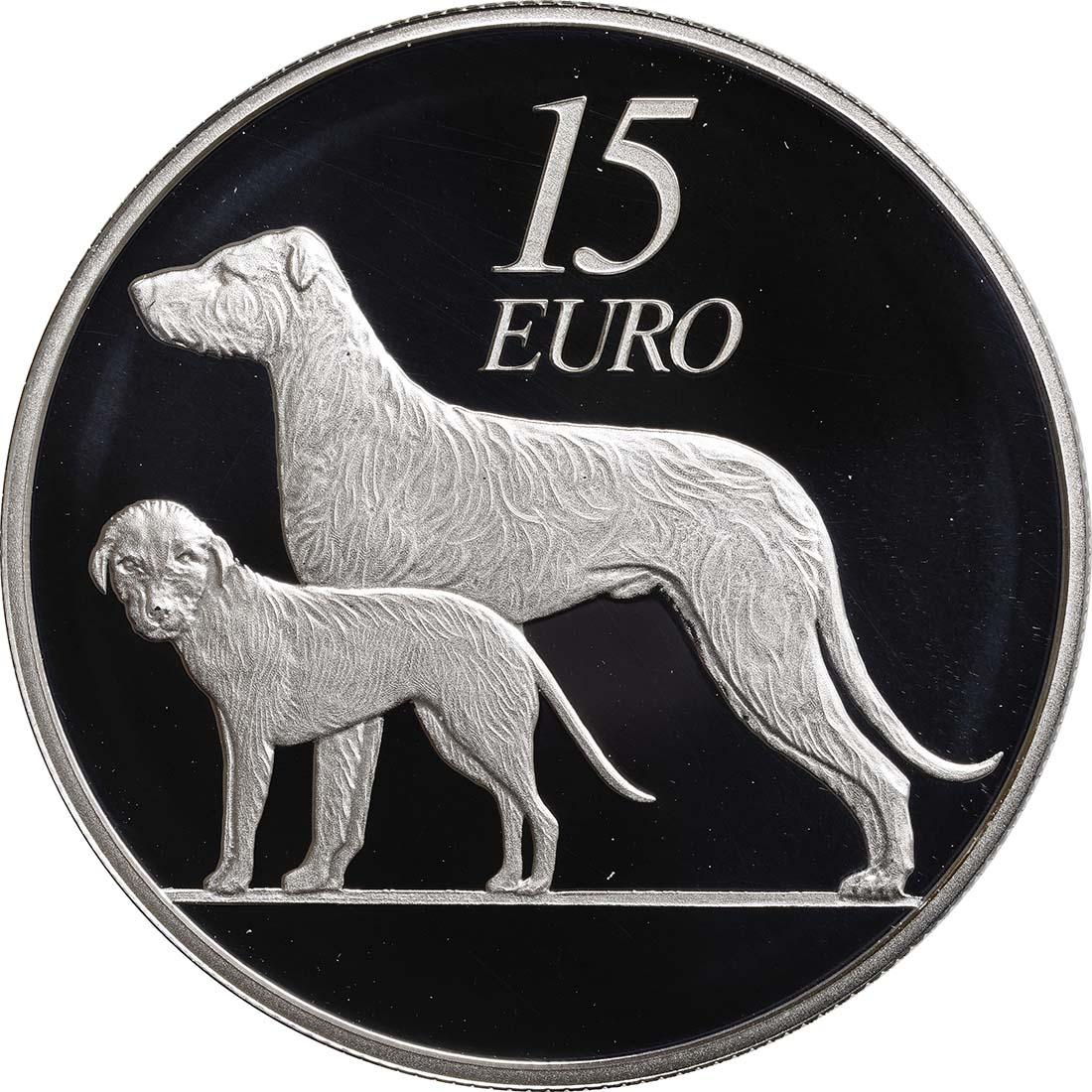 Vorderseite:Irland : 15 Euro Hund / Hound  2012 PP