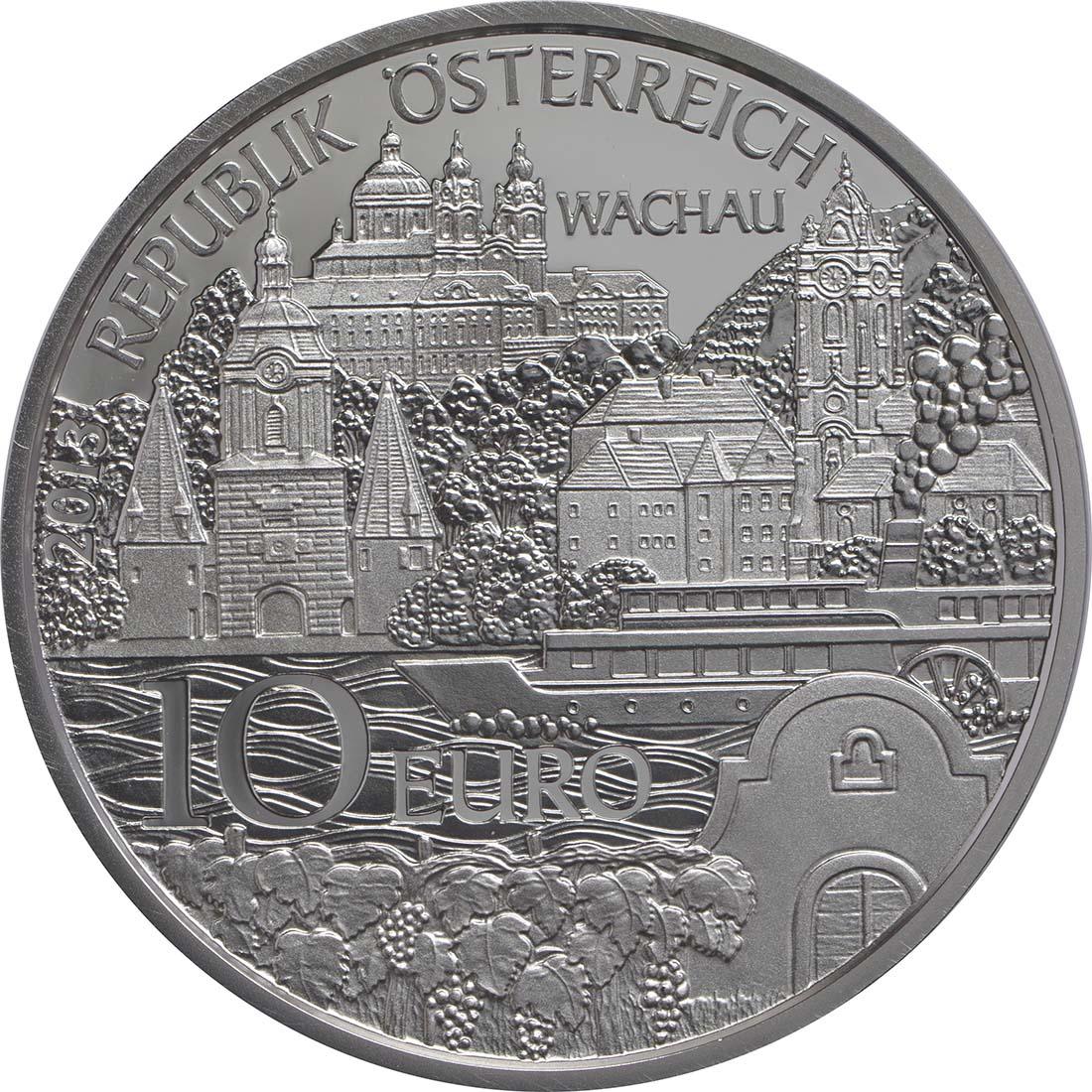 Rückseite:Österreich : 10 Euro Niederösterreich  2013 PP