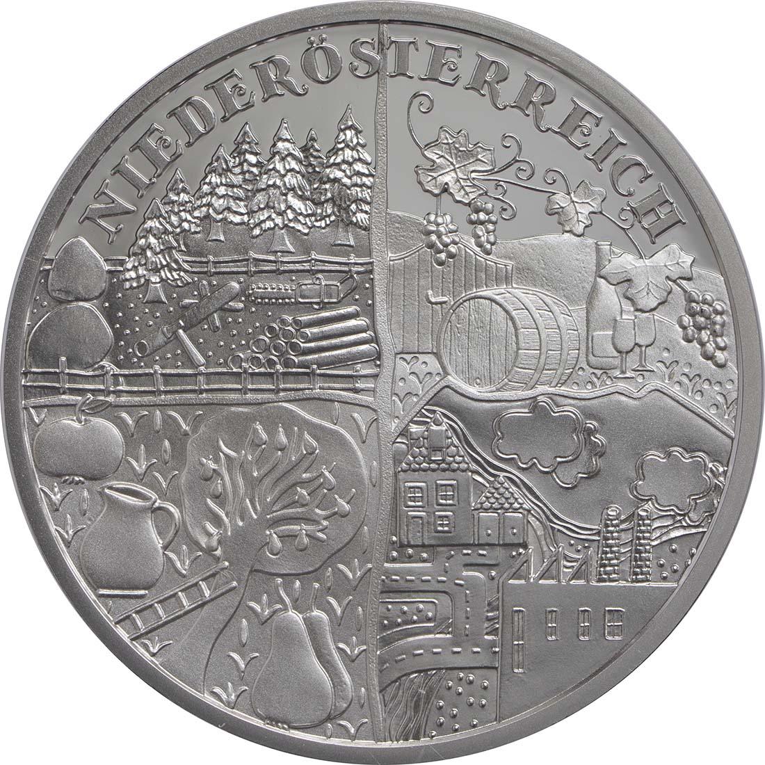 Vorderseite:Österreich : 10 Euro Niederösterreich  2013 PP