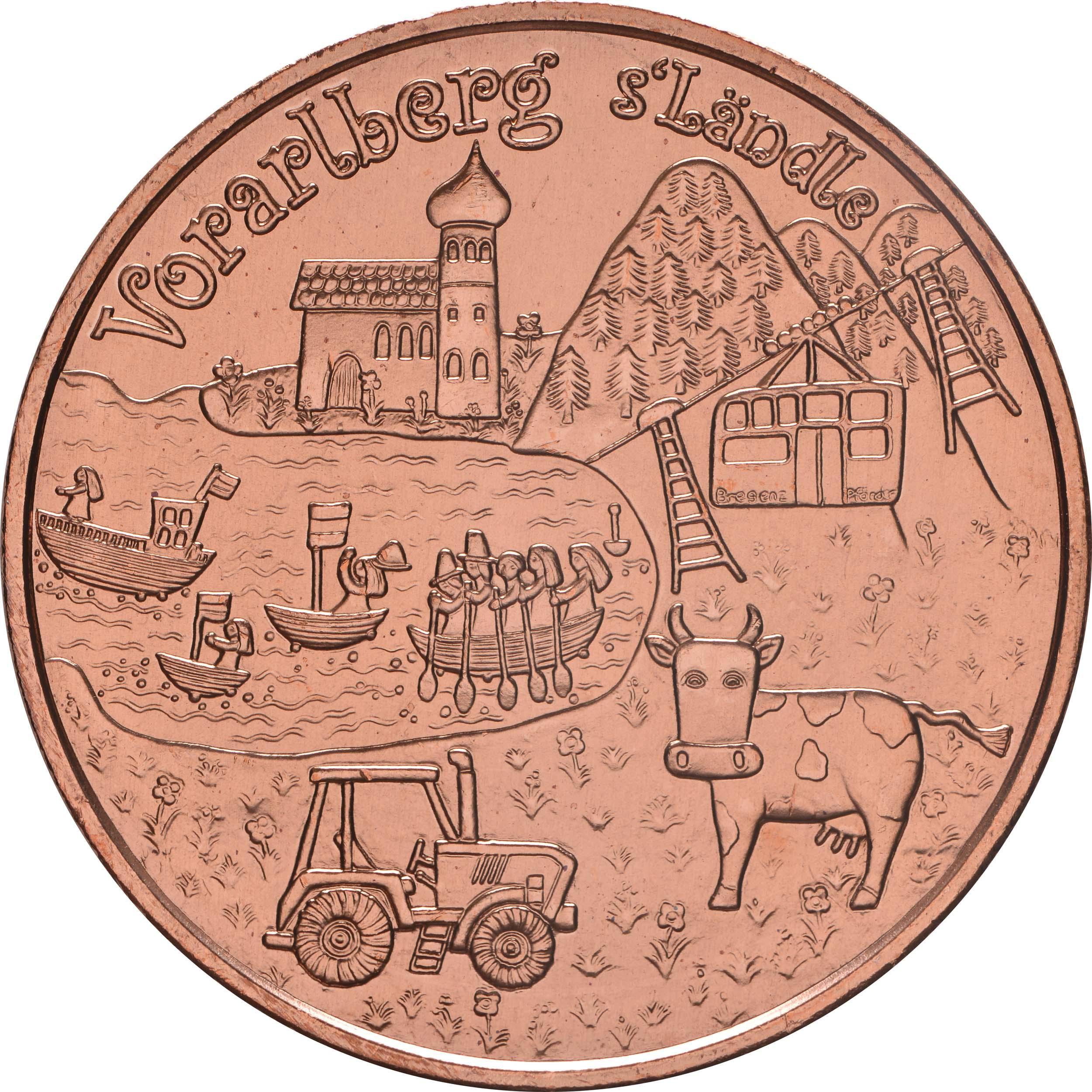 Vorderseite:Österreich : 10 Euro Vorarlberg  2013 Stgl.