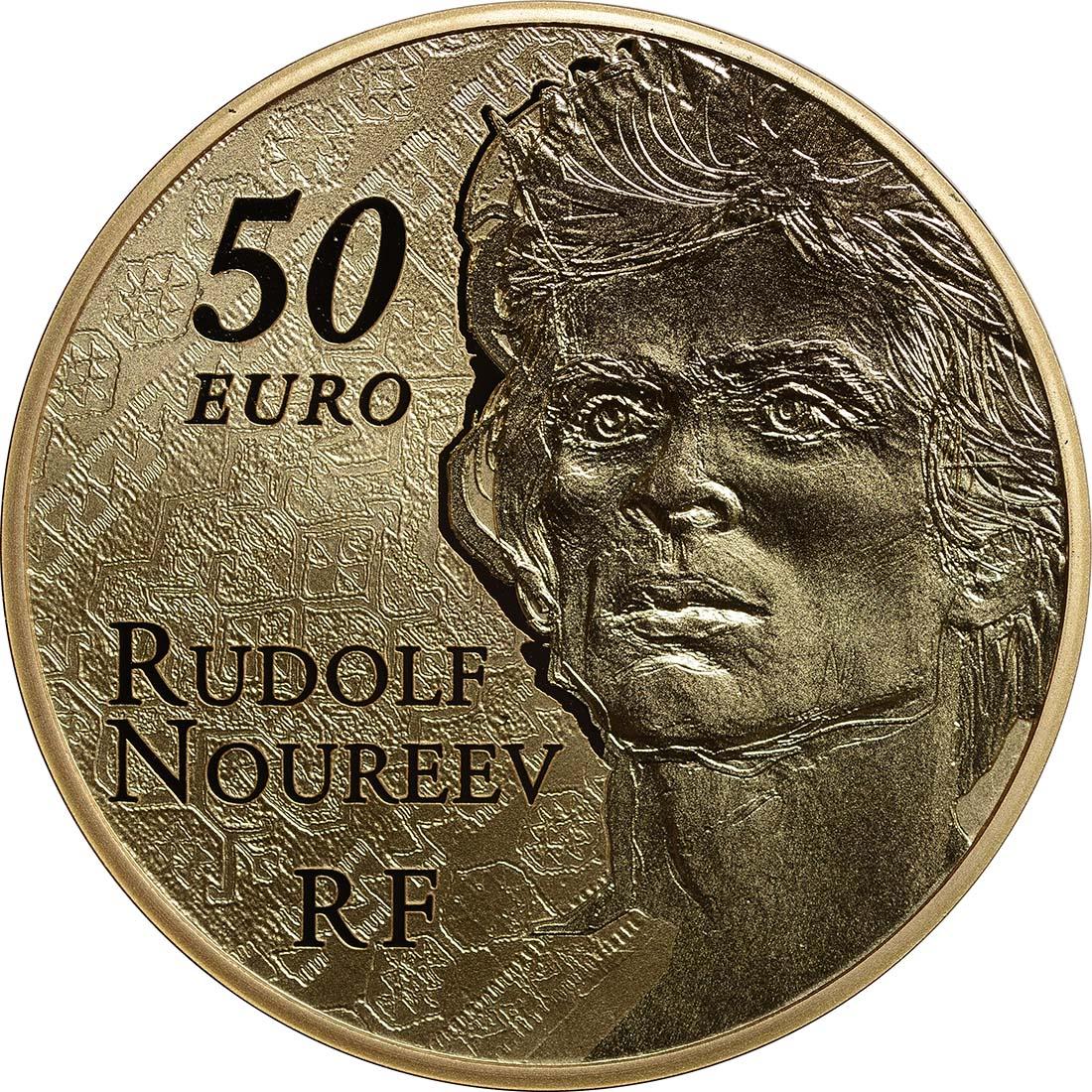 Rückseite:Frankreich : 50 Euro Rudolf Nureyev - Tanz  2013 PP