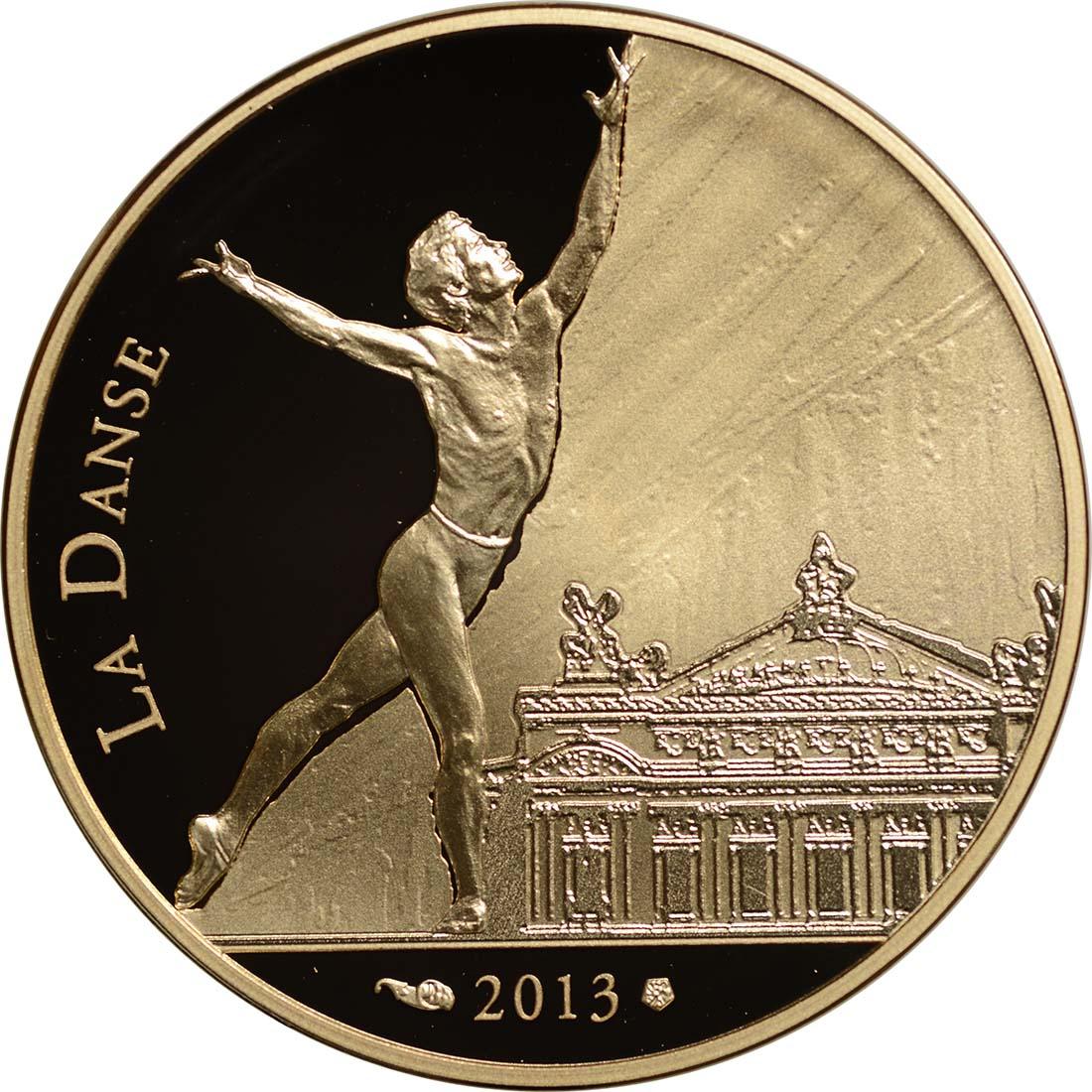 Vorderseite:Frankreich : 50 Euro Rudolf Nureyev - Tanz  2013 PP