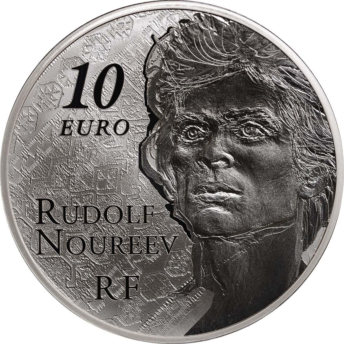 Rückseite:Frankreich : 10 Euro Rudolf Nureyev - Tanz  2013 PP