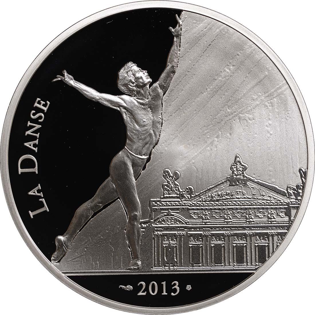 Vorderseite:Frankreich : 10 Euro Rudolf Nureyev - Tanz  2013 PP