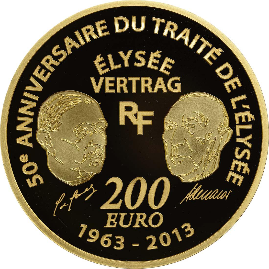 Vorderseite:Frankreich : 200 Euro 50 Jahre Elysée-Vertrag  2013 PP