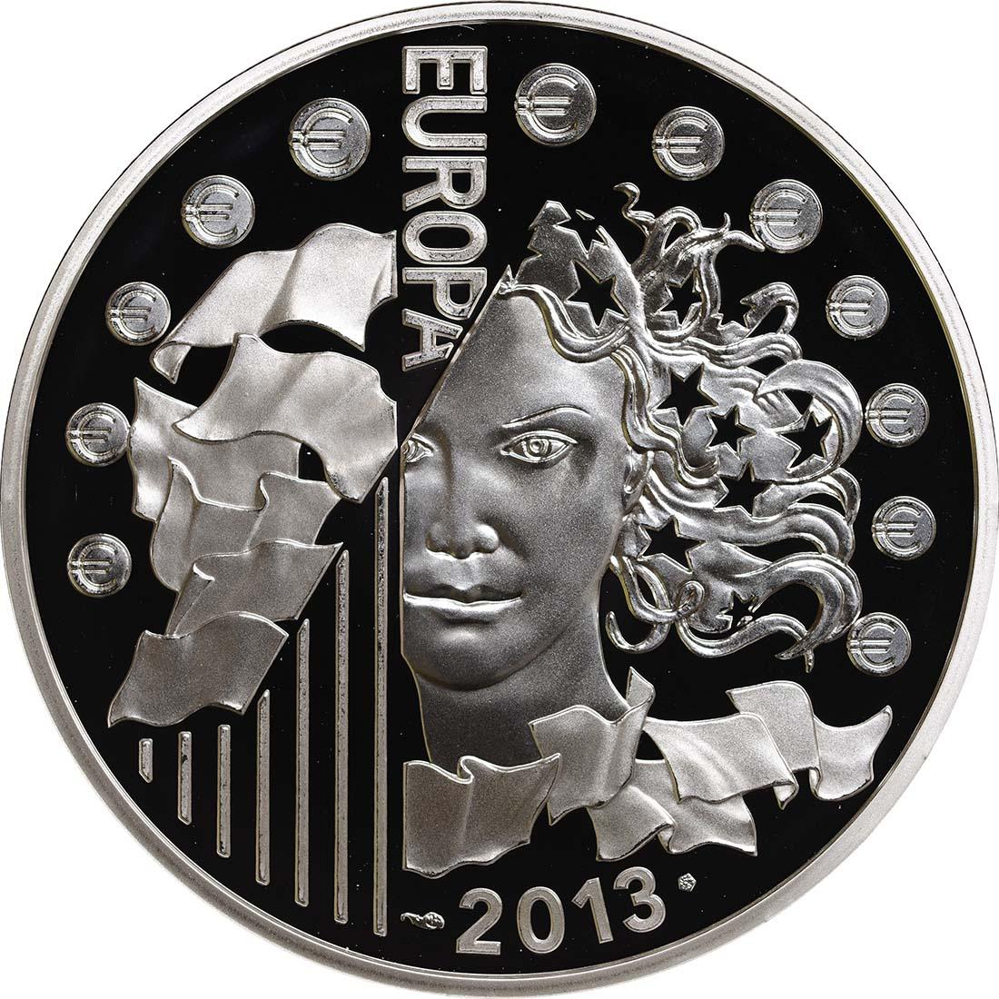 Vorderseite:Frankreich : 10 Euro 50 Jahre Elysée-Vertrag  2013 PP