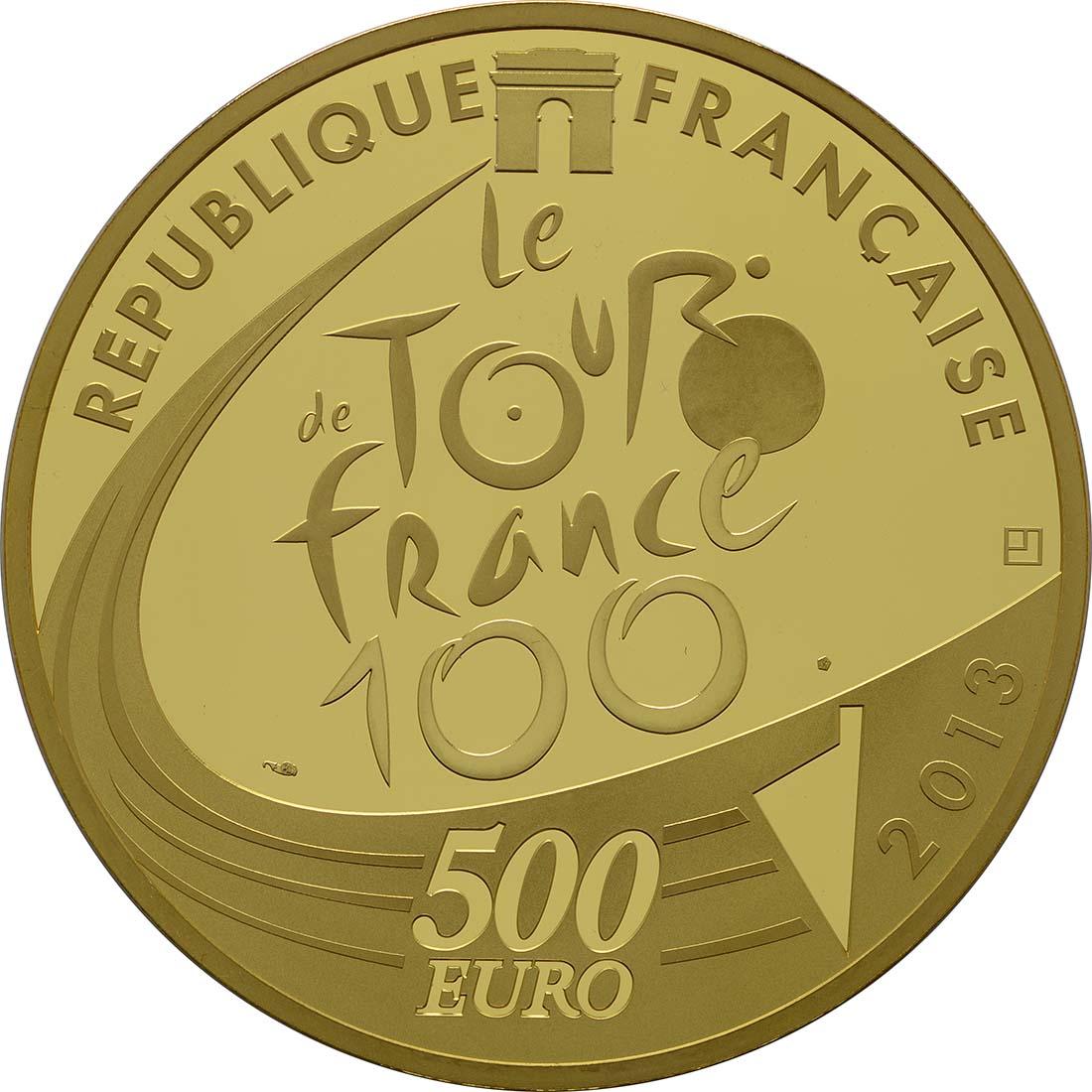 Rückseite:Frankreich : 500 Euro Tour de France  2013 PP