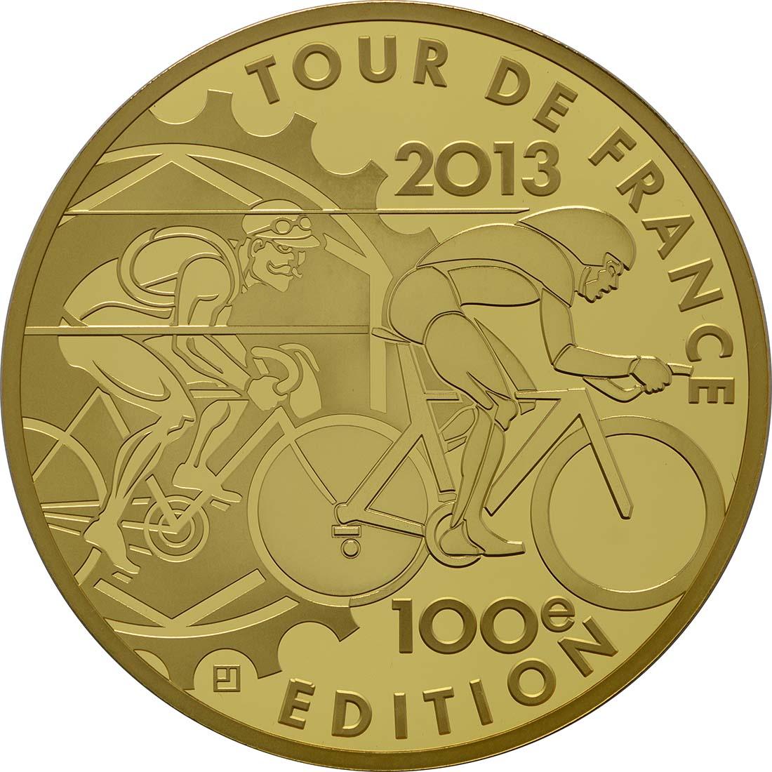 Vorderseite:Frankreich : 500 Euro Tour de France  2013 PP