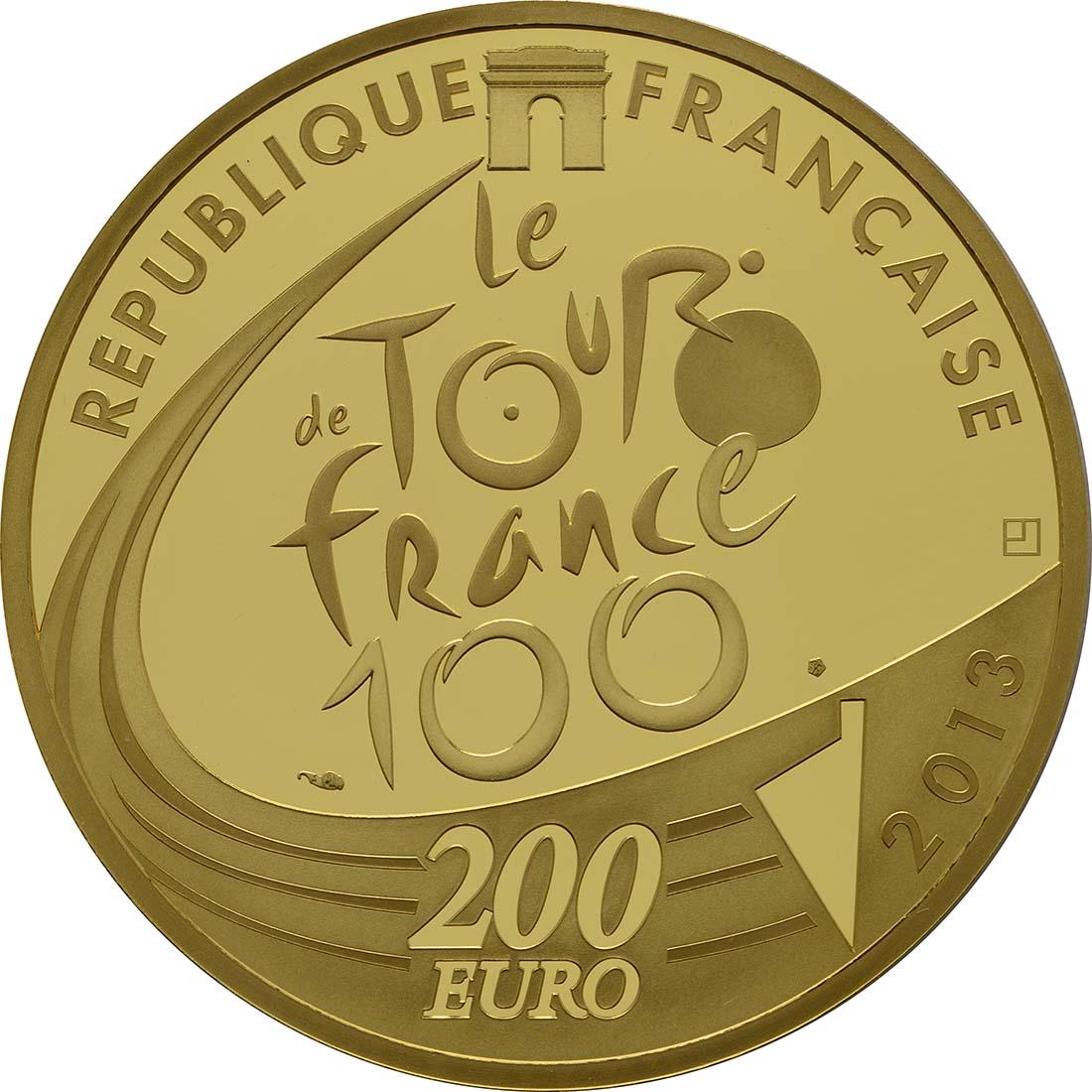 Rückseite:Frankreich : 200 Euro Tour de France  2013 PP