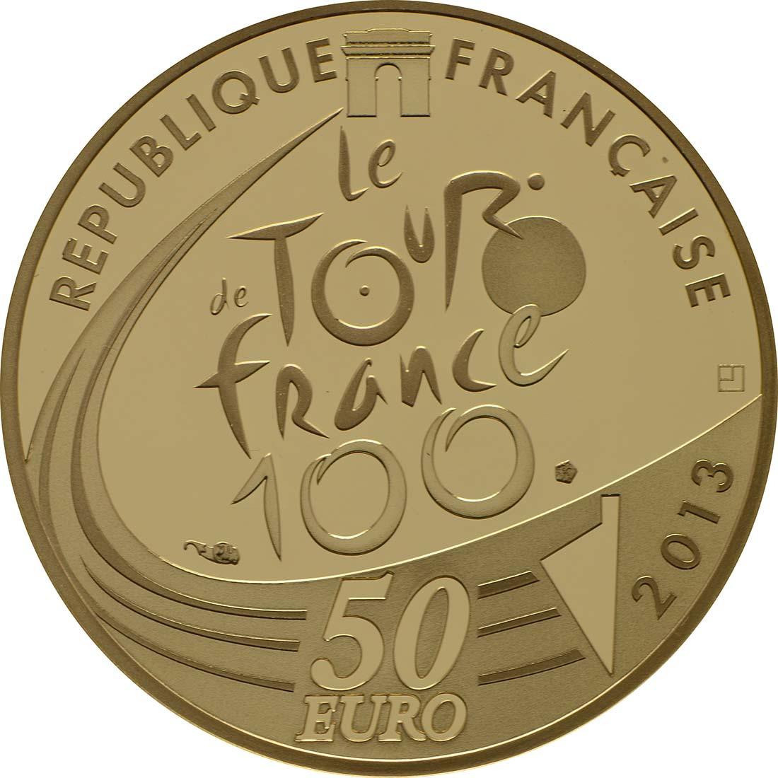Rückseite:Frankreich : 50 Euro Tour de France  2013 PP