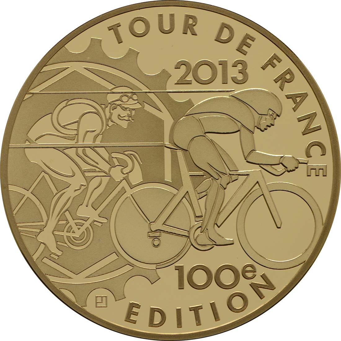 Vorderseite:Frankreich : 50 Euro Tour de France  2013 PP