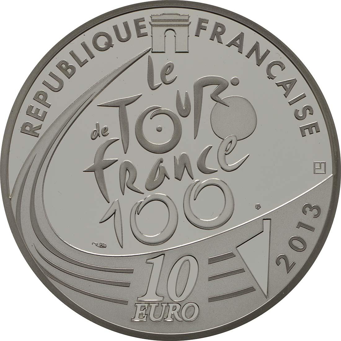 Rückseite:Frankreich : 10 Euro Gelbes Trikot  2013 PP